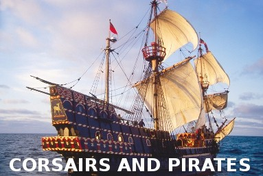 Model ship kits - corsairs and pirates ships