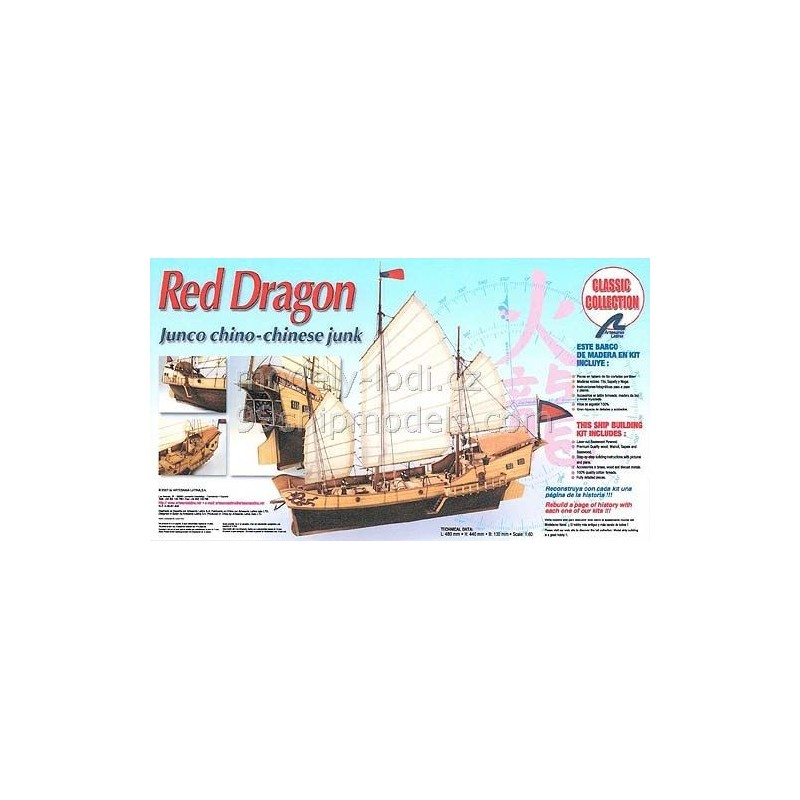 Red Dragon Model Ship Kit Red Dragon 18020 By Artesania Latina Ship Models 99shipmodelscom